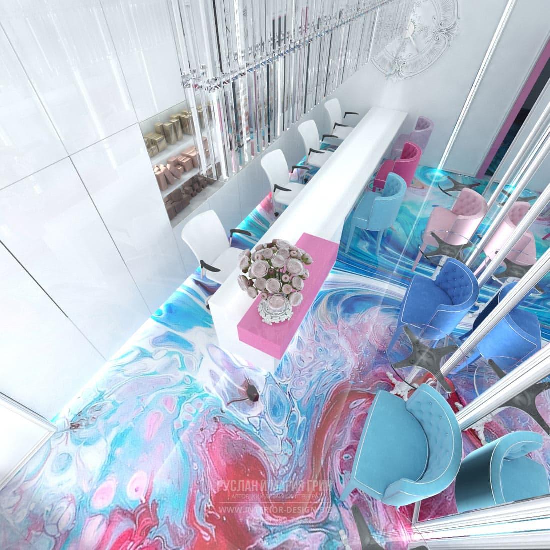 Дизайн интерьера салона красоты в современном стиле