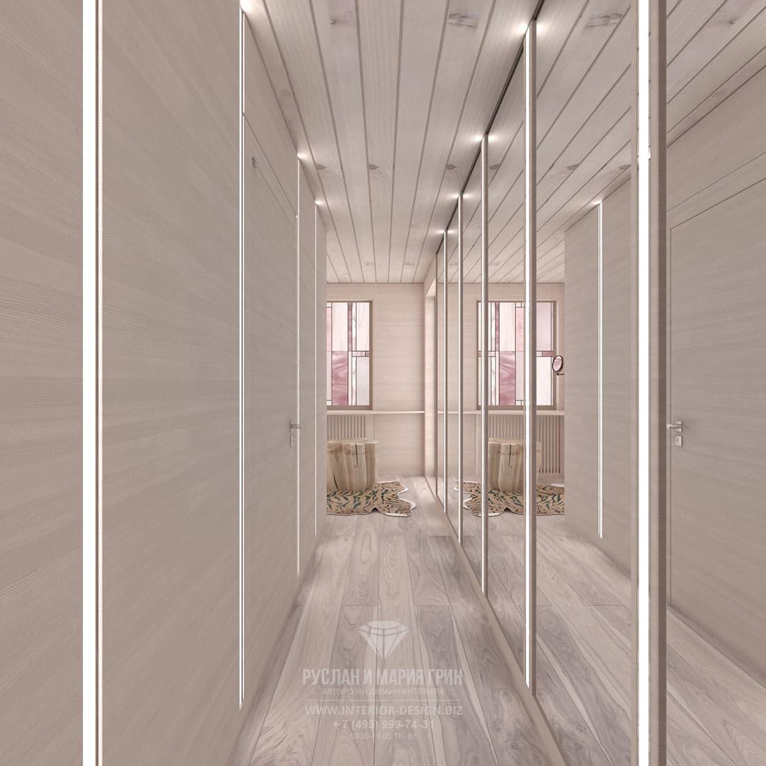 Дизайн гардеробной комнаты в загородном доме