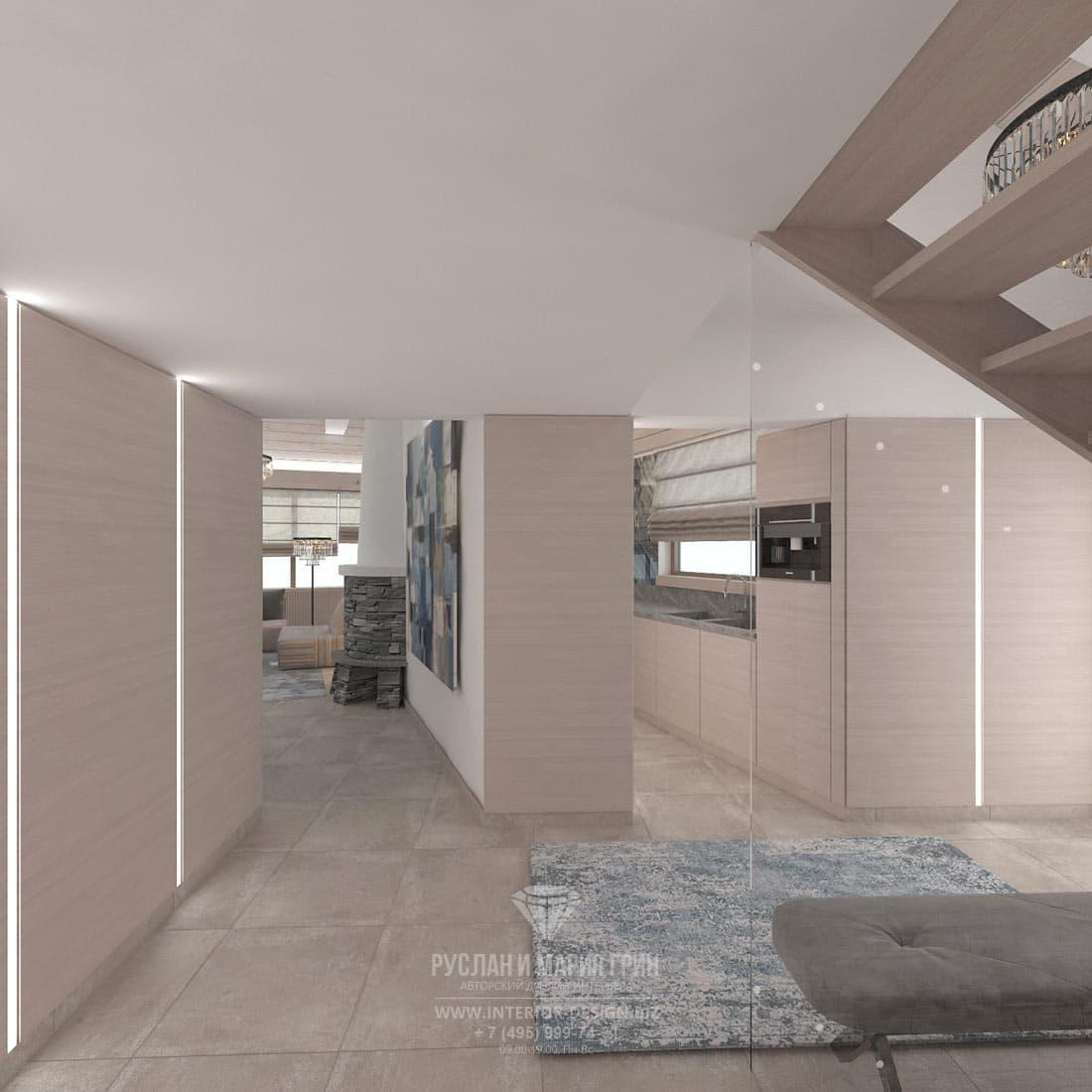 Дизайн холла в доме в Швейцарии