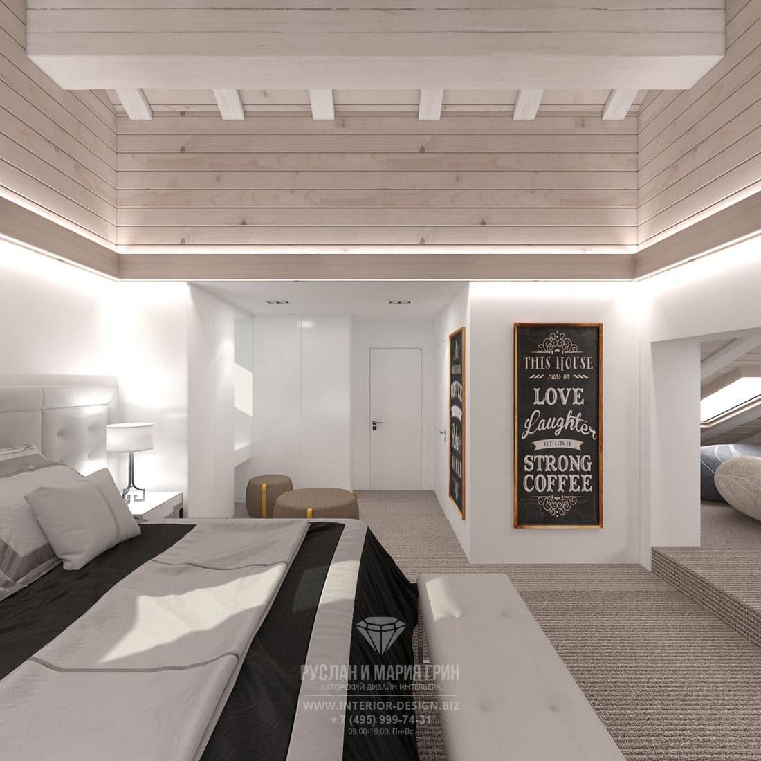 Дизайн современной детской комнаты в мансарде