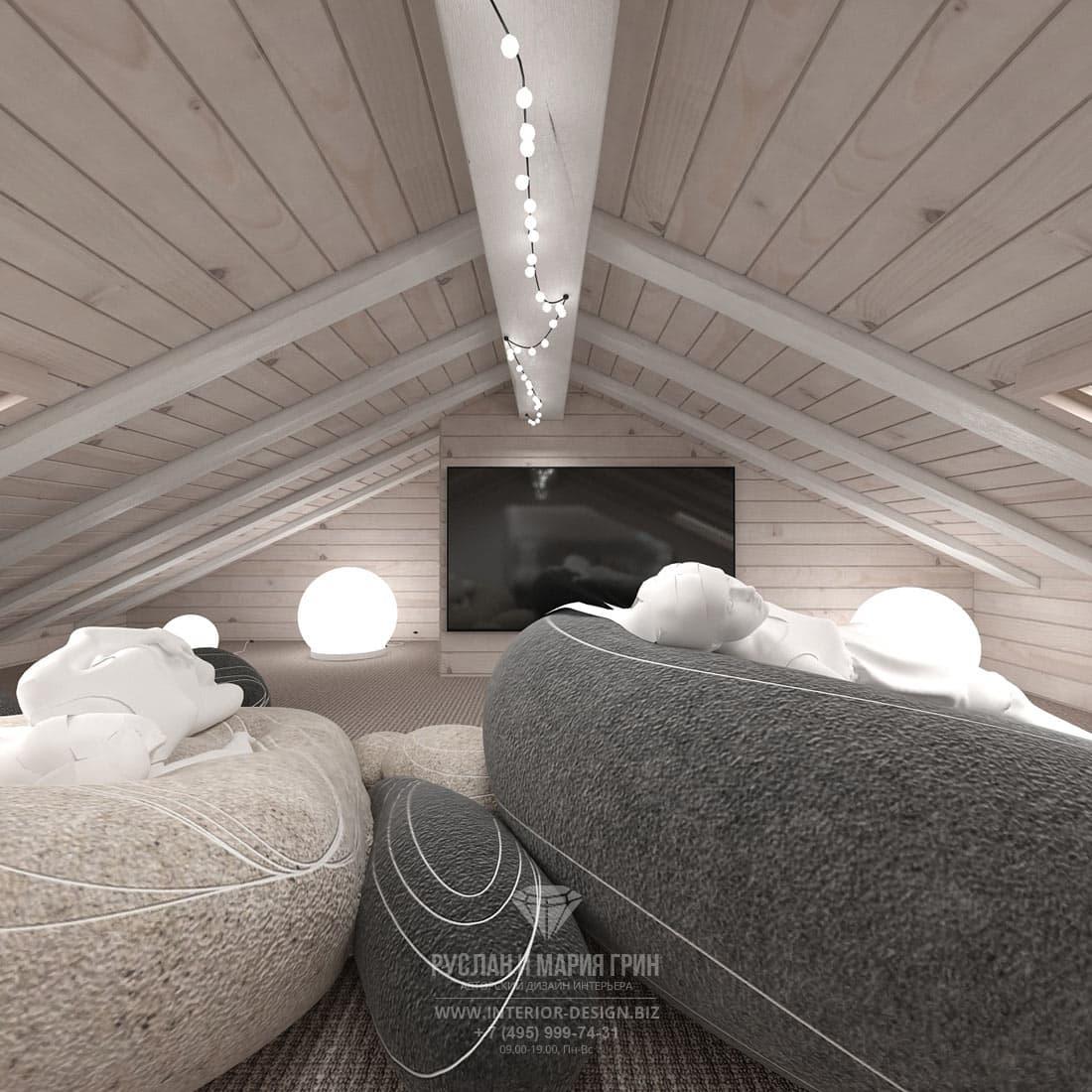 Дизайн современной детской комнаты в загородном доме