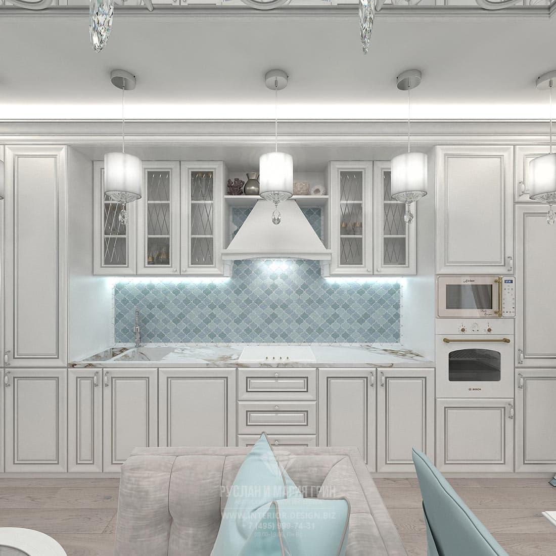Дизайн интерьера кухни-гостиной в небольшой квартире