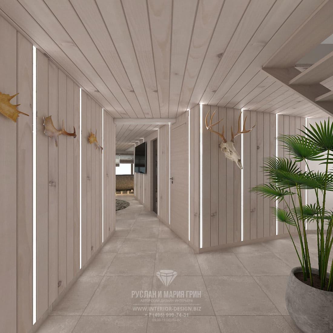Дизайн коридора в загородном доме