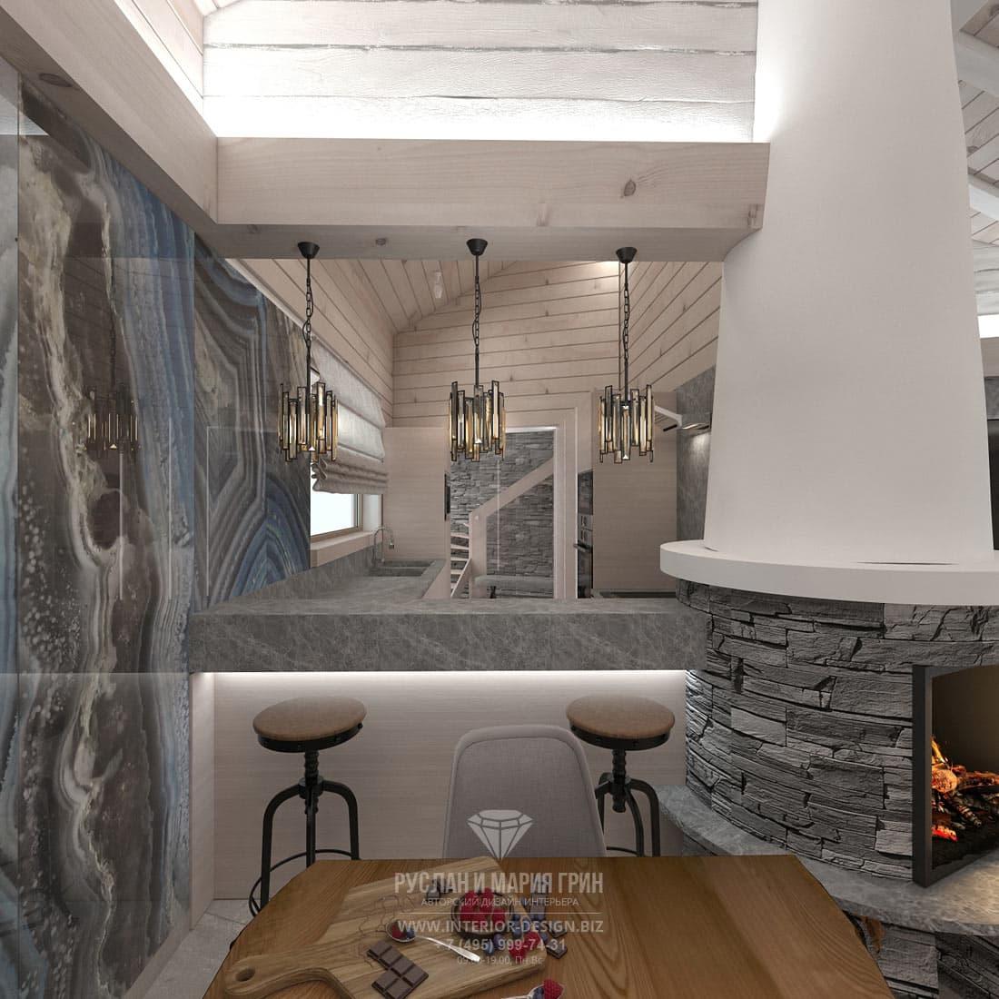 Дизайн интерьера небольшой кухни в загородном доме