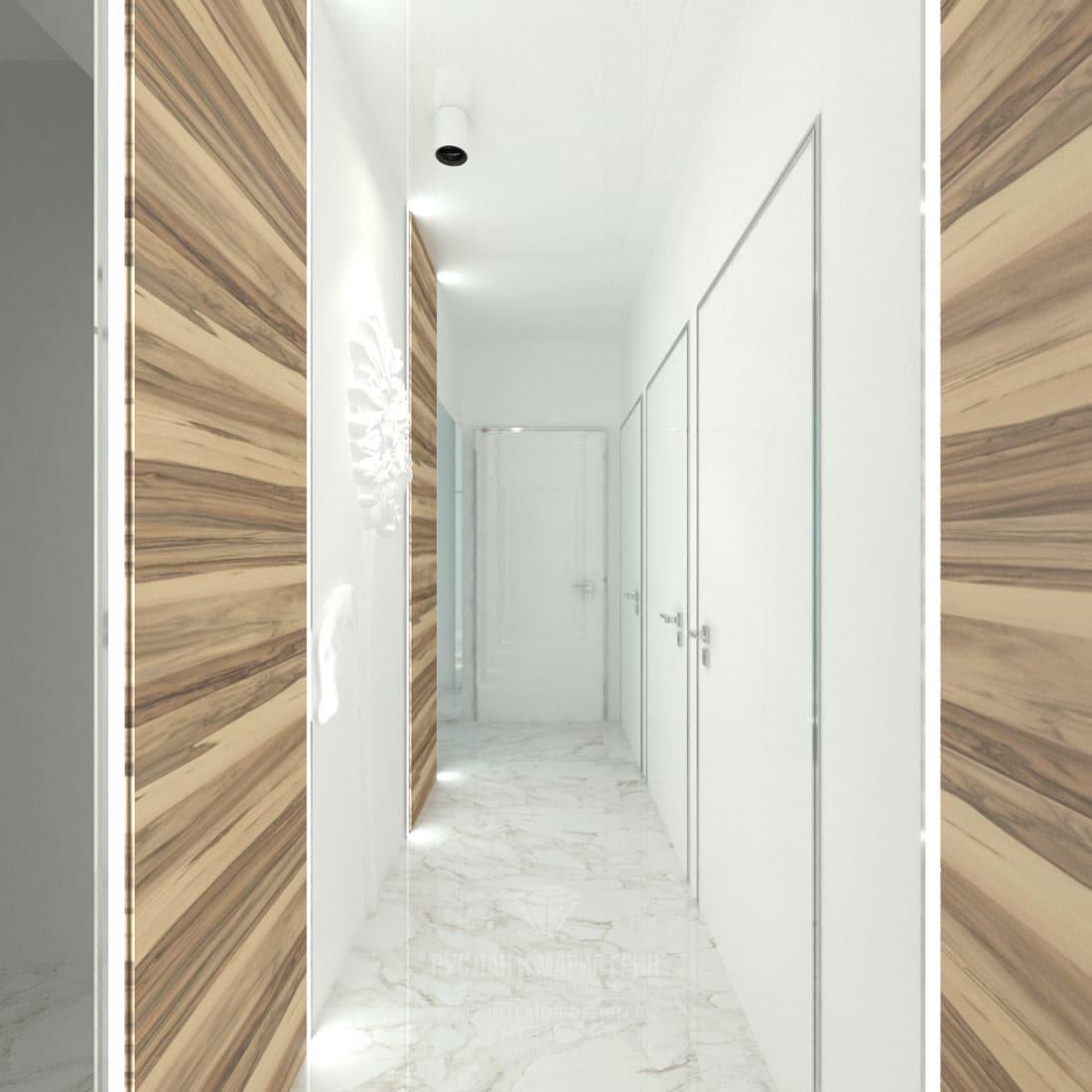 Дизайн интерьера современного салона красоты. Коридор