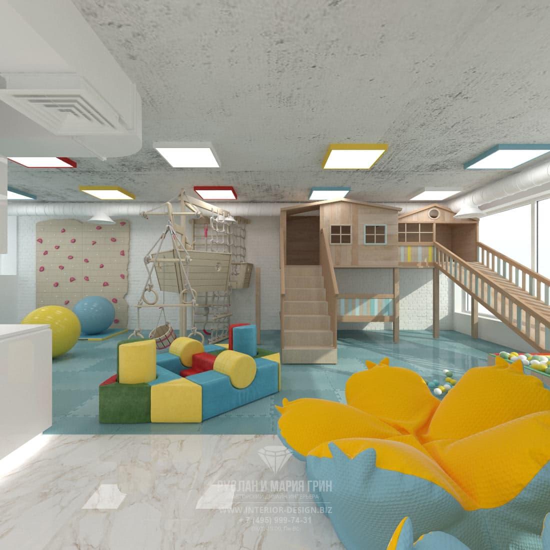 Дизайн интерьера современного салона красоты. Детская зона