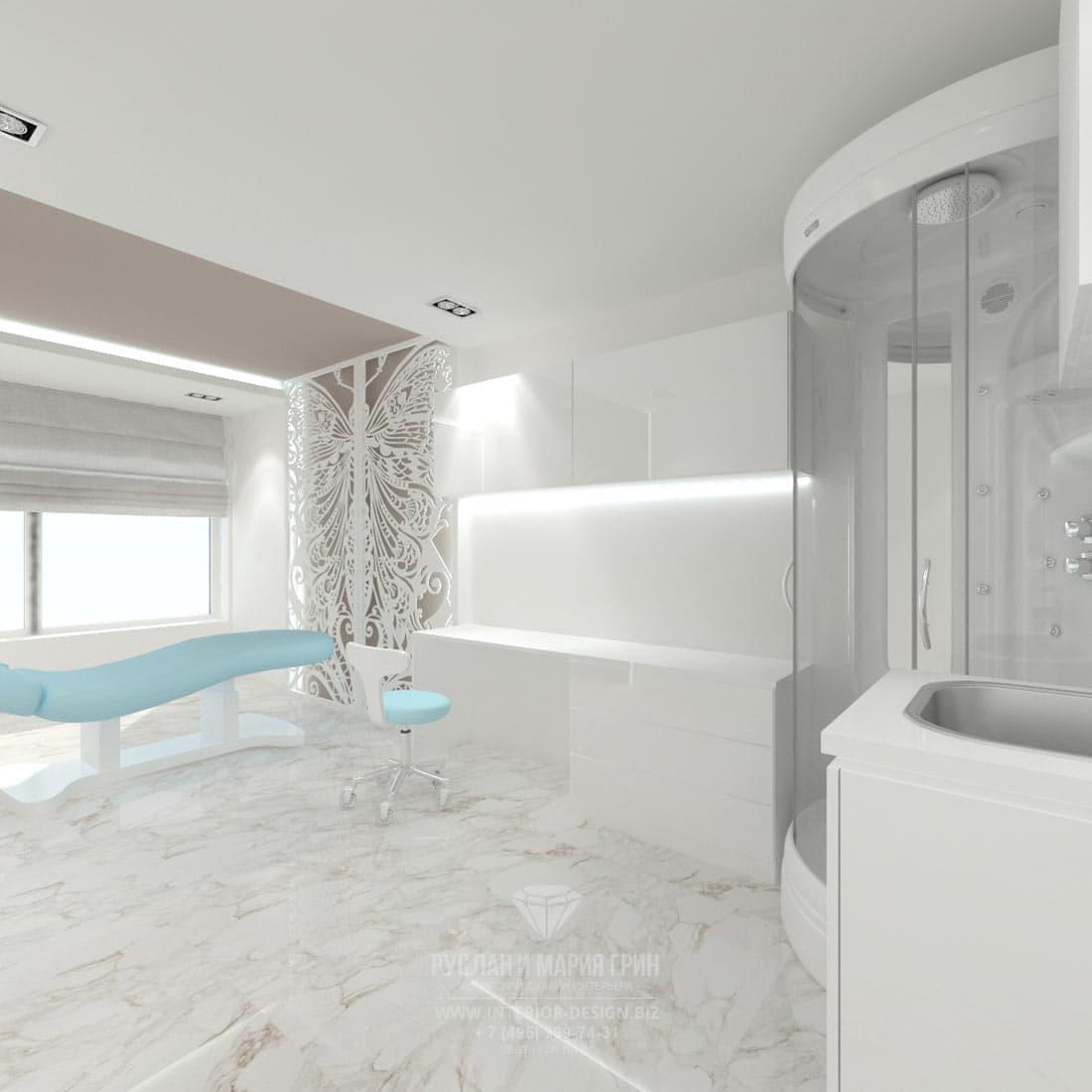 Дизайн интерьера современного салона красоты. Косметологический кабинет