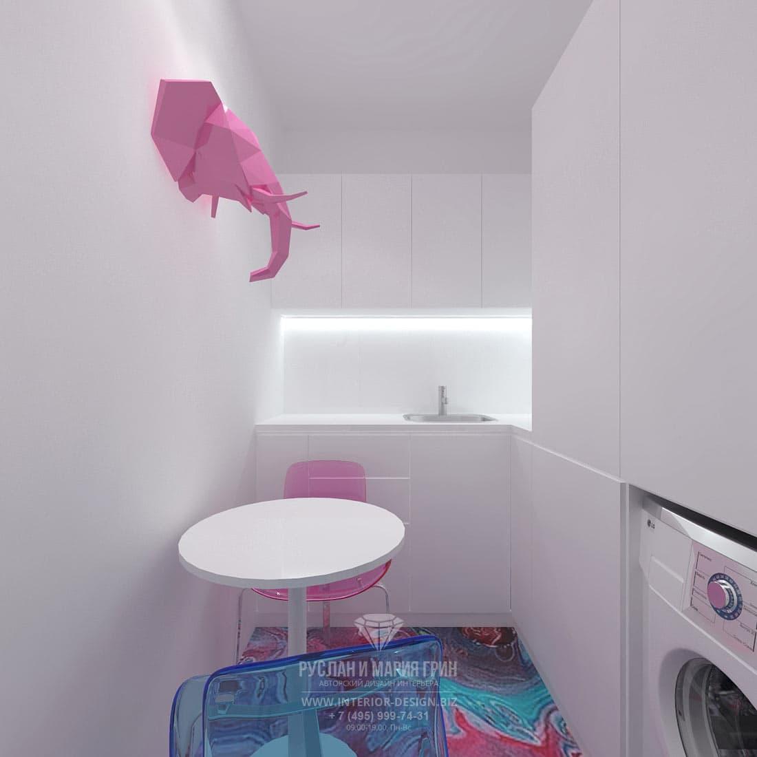 Дизайн интерьера санузла в современном салоне красоты