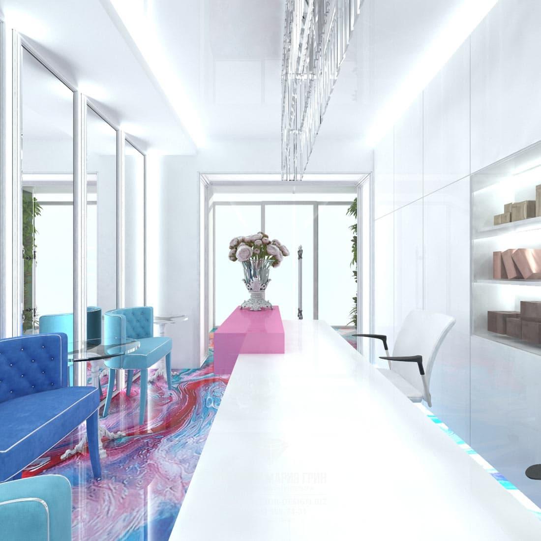 Дизайн интерьера современного салона красоты
