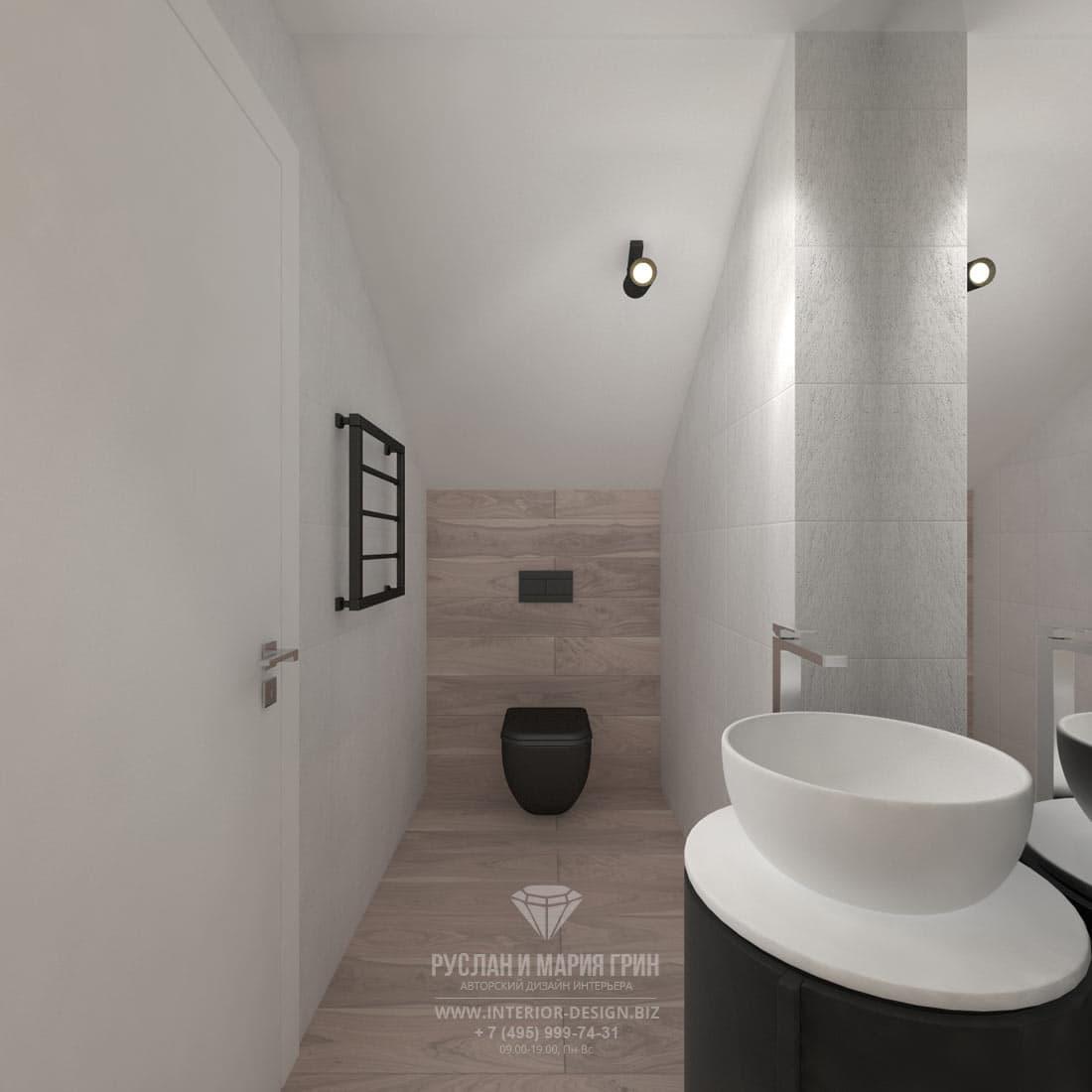 Дизайн интерьера второго санузла в доме