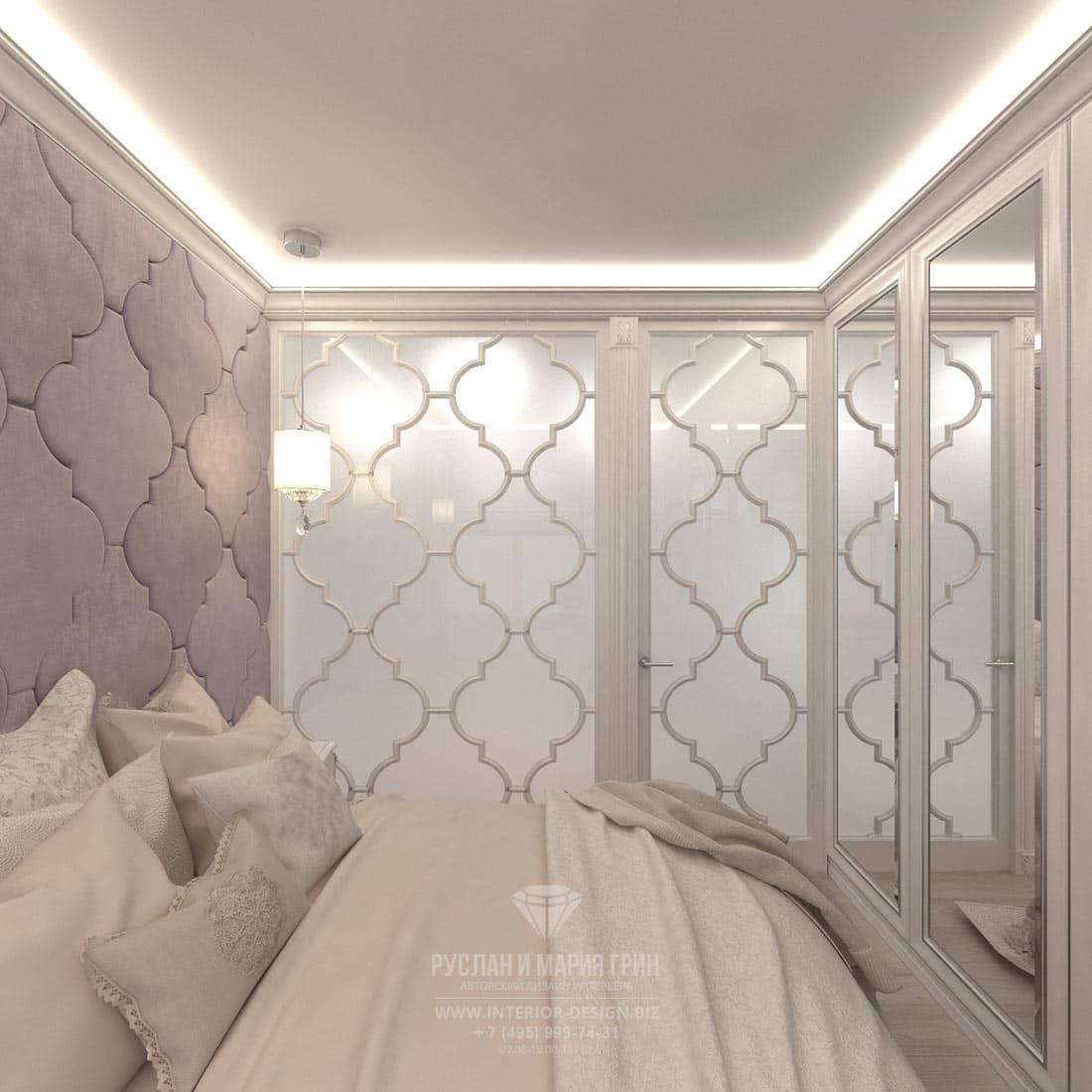 Дизайн интерьера хозяйской спальни в небольшой квартире