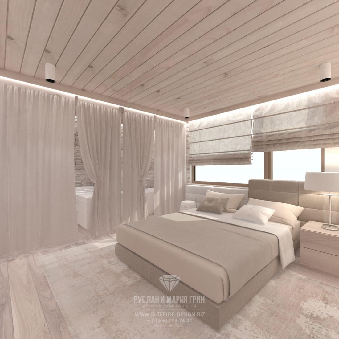 Дизайн детской комнаты с ванной в загродном доме