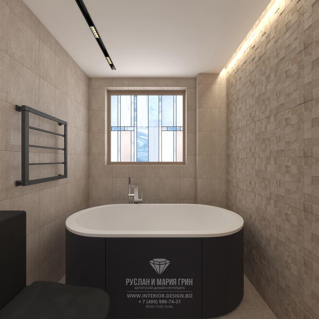 Дизайн интерьера второй ванной комнаты в загородном доме