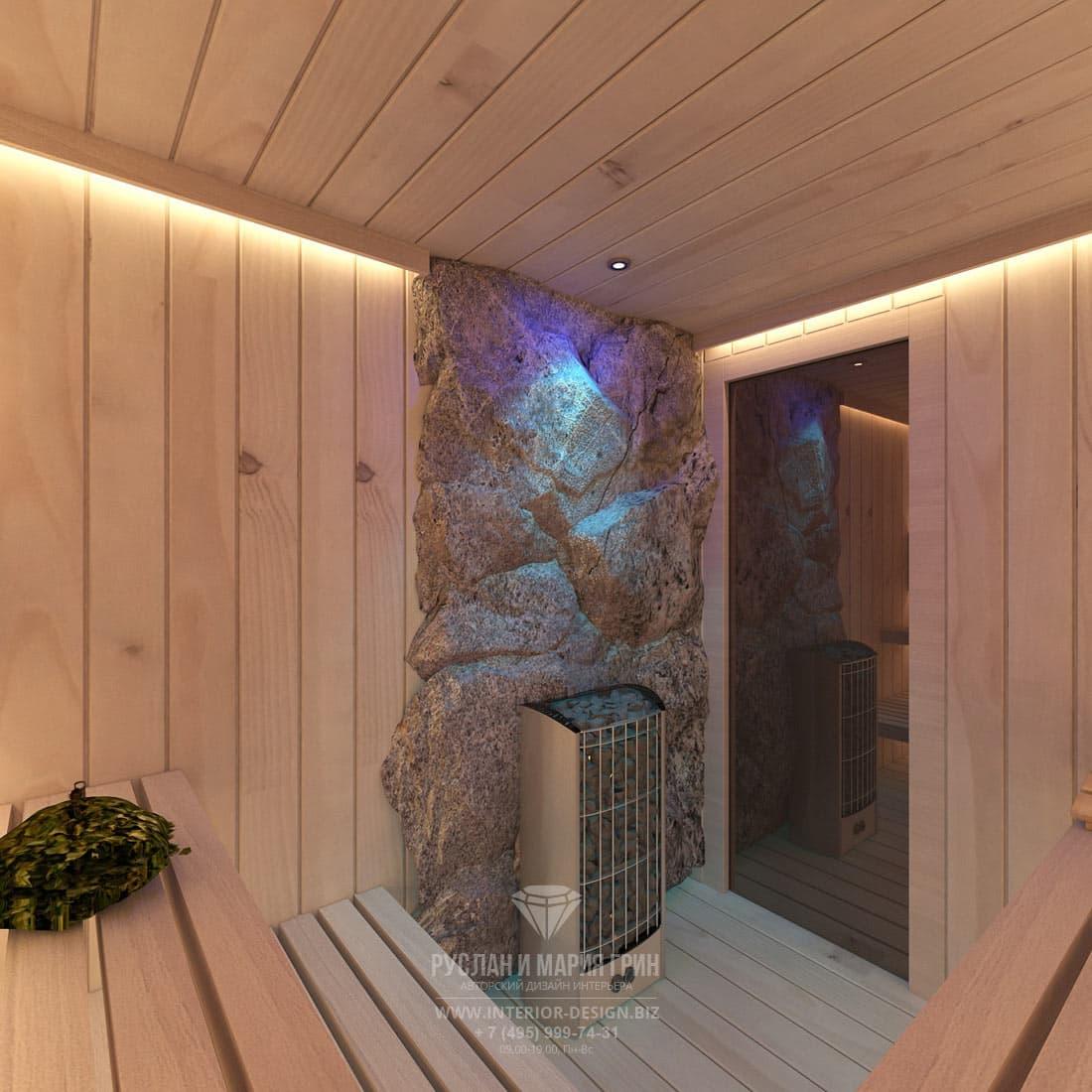 Дизайн интерьера сауны в загородном доме