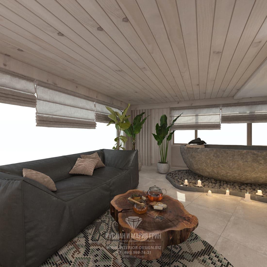 Дизайн зоны отдыха в загородном доме