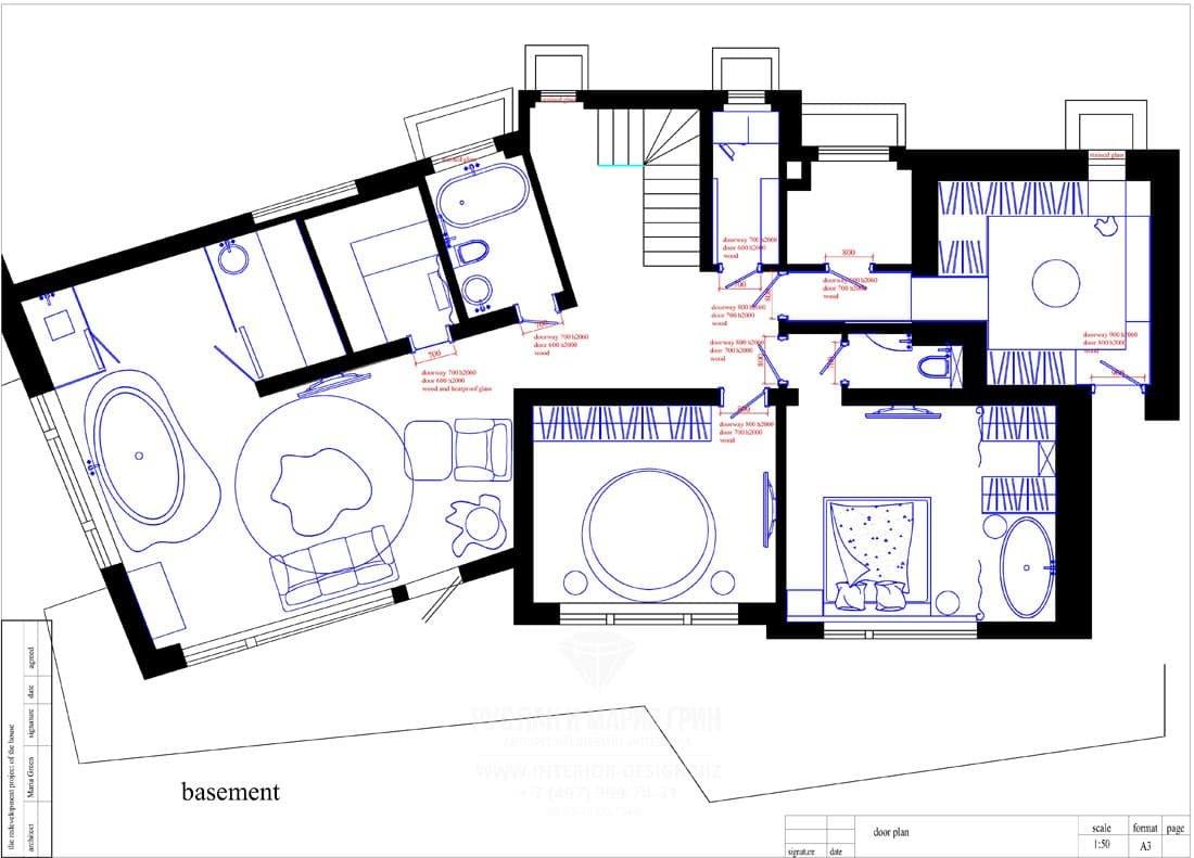 Планировка второго этажа дома в Швейцарии