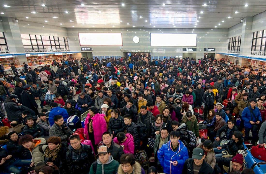 Зал ожидания в аэропорту Китая