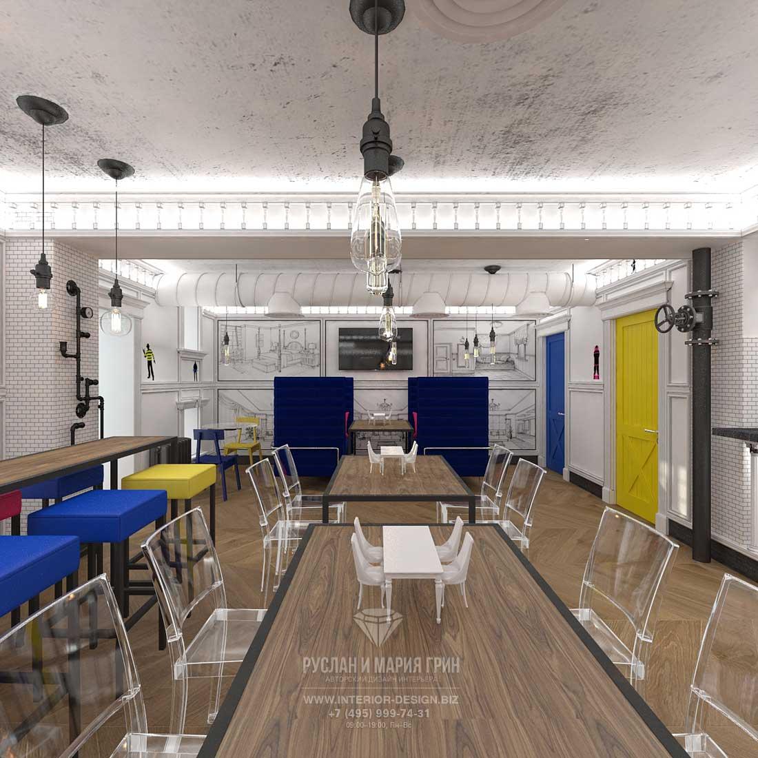 Дизайн интерьера бара на Патриарших прудах