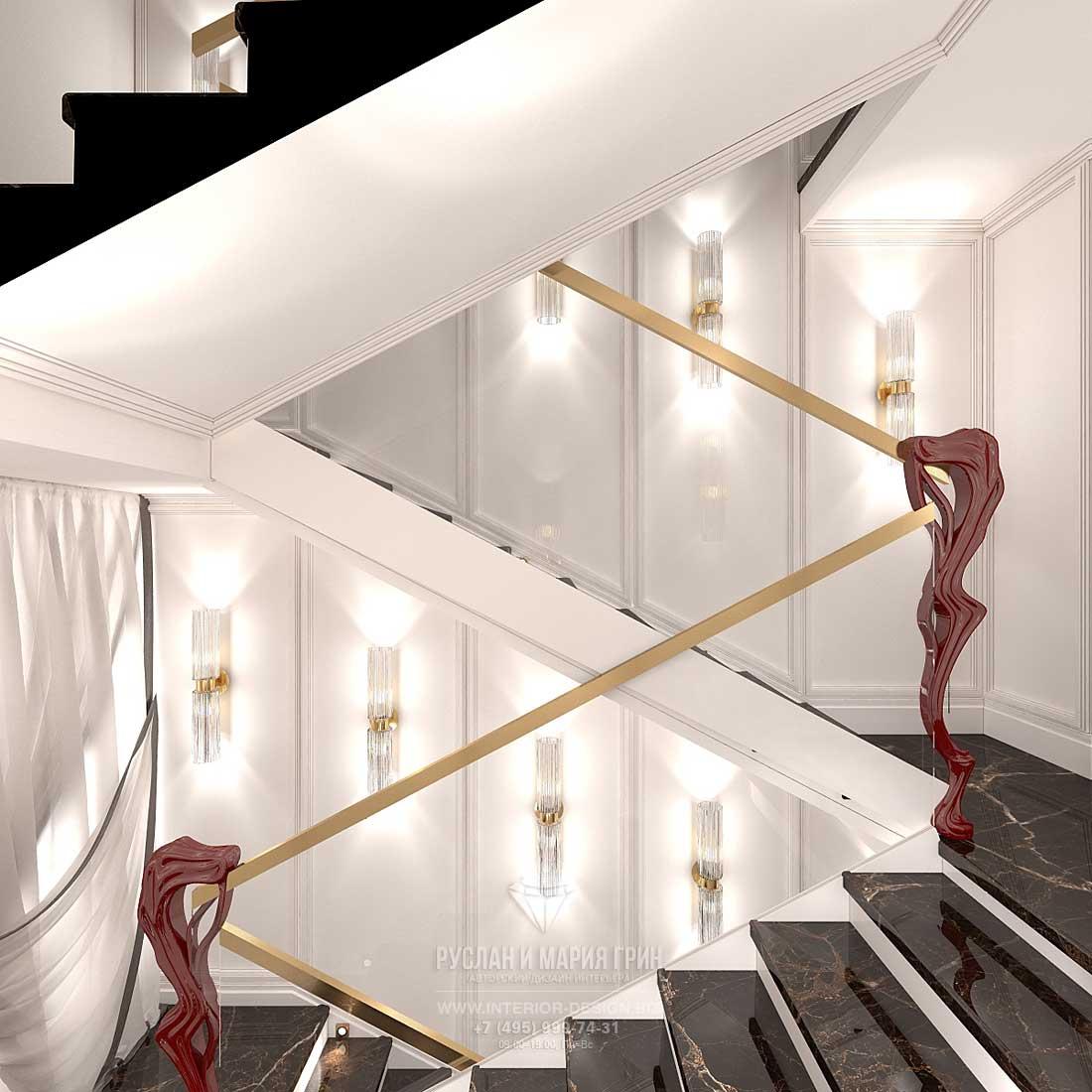 Интерьер парадного холла в стиле ар-деко
