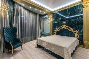 Ар-деко и классика в интерьере гостевой спальни