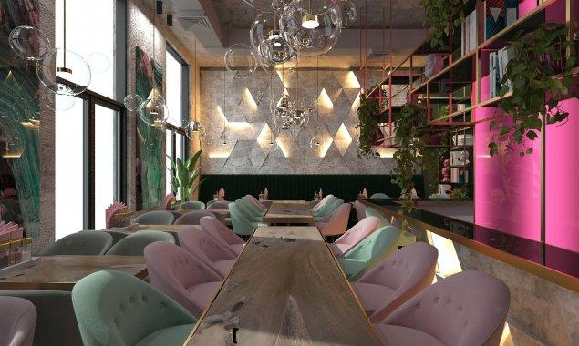 Дизайн кафе «Баранка» в ЖК «Фили Град»