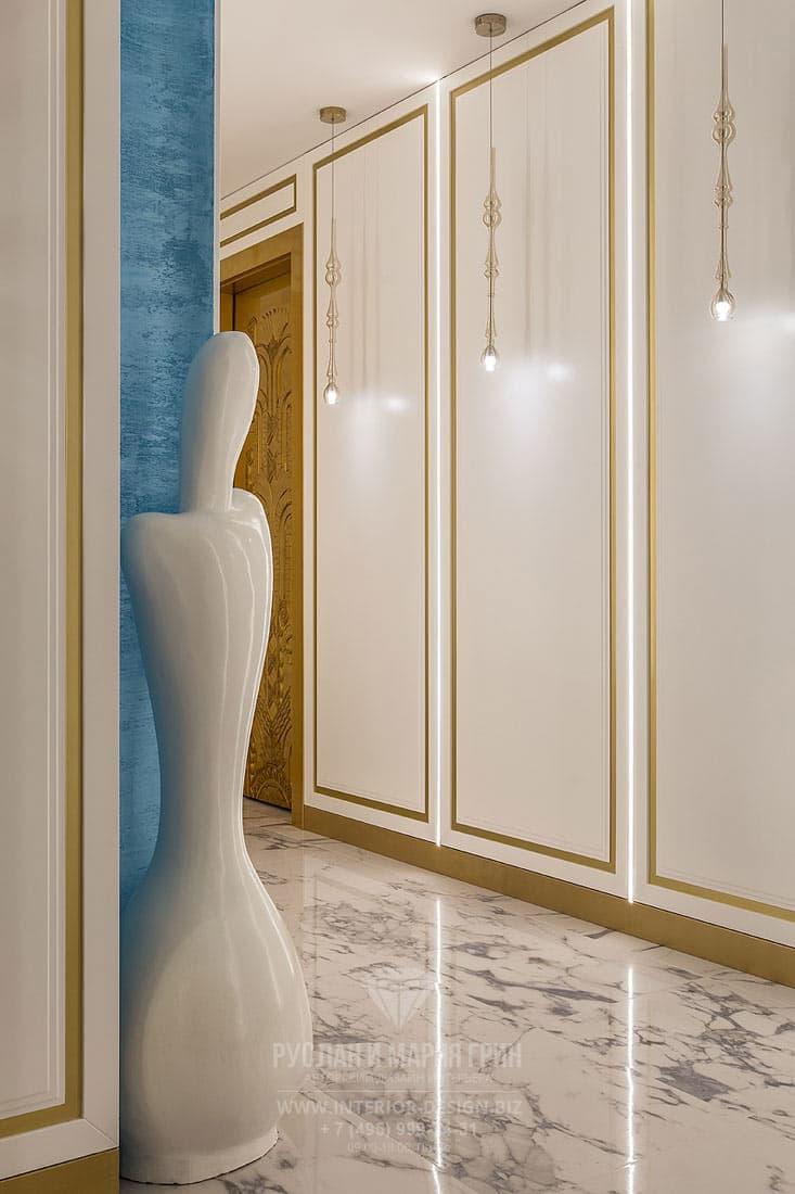 Интерьер коридора в стиле ар-деко
