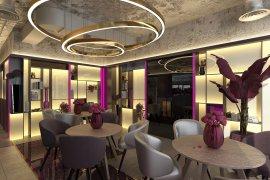 Дизайн-проект кафе с элементами мемфиса и лофта