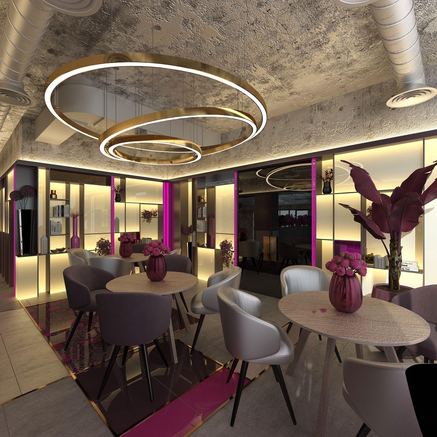 Дизайн-проект ресторана в стиле Мемфис
