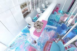 Modern Beauty Parlour Interior Design Project