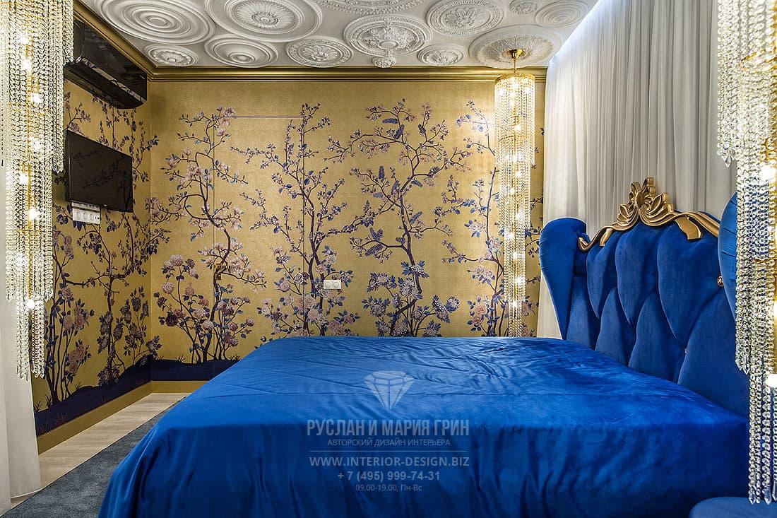 Интерьер хозяйской спальни в стиле ар-деко