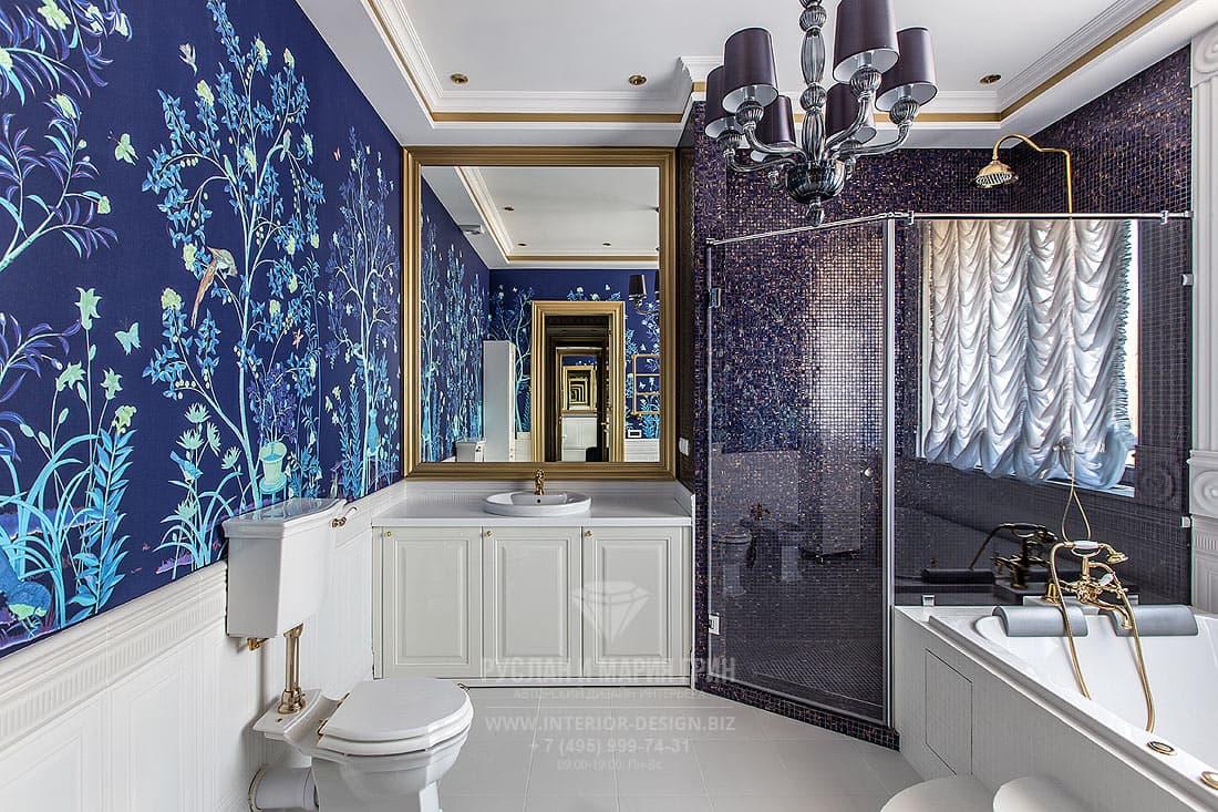 Ар-деко с элементами классики в интерьере ванной