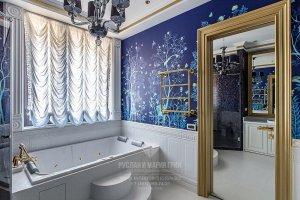 Проект ванной комнаты в квартире в Новогорске