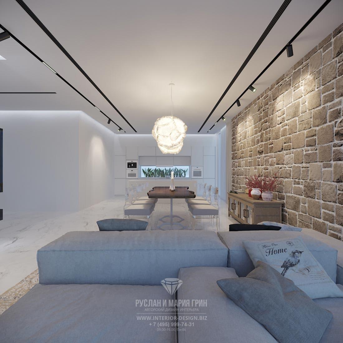 Квартира в Тель-Авиве в светло-серых с коричневым тонах