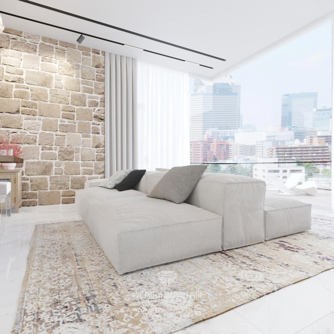 Интерьер квартиры с террасой в Тель-Авиве