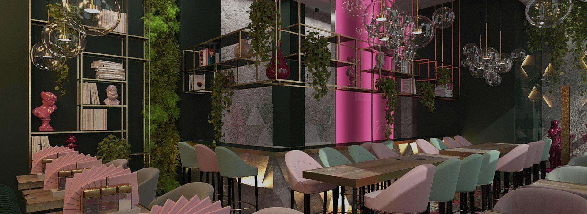 Дизайн интерьра кафе и ресторанов