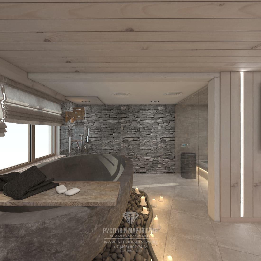 Лаунж-зона в доме в Швейцарии