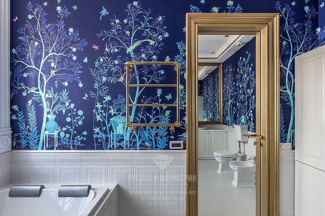 Модный дизайн интерьера ванной в стиле ар-деко
