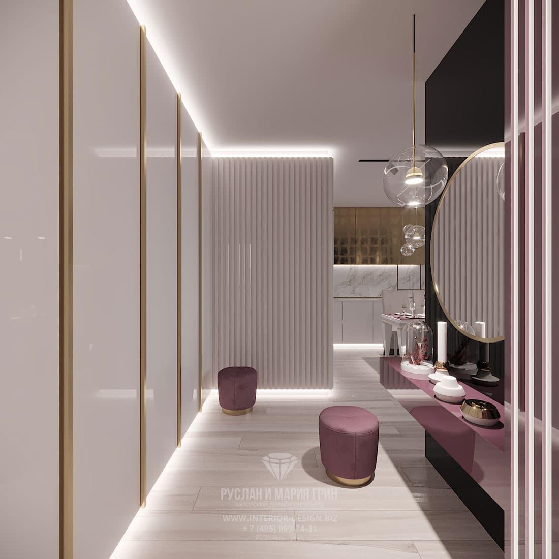 Дизайн интерьера прихожей с подсветкой