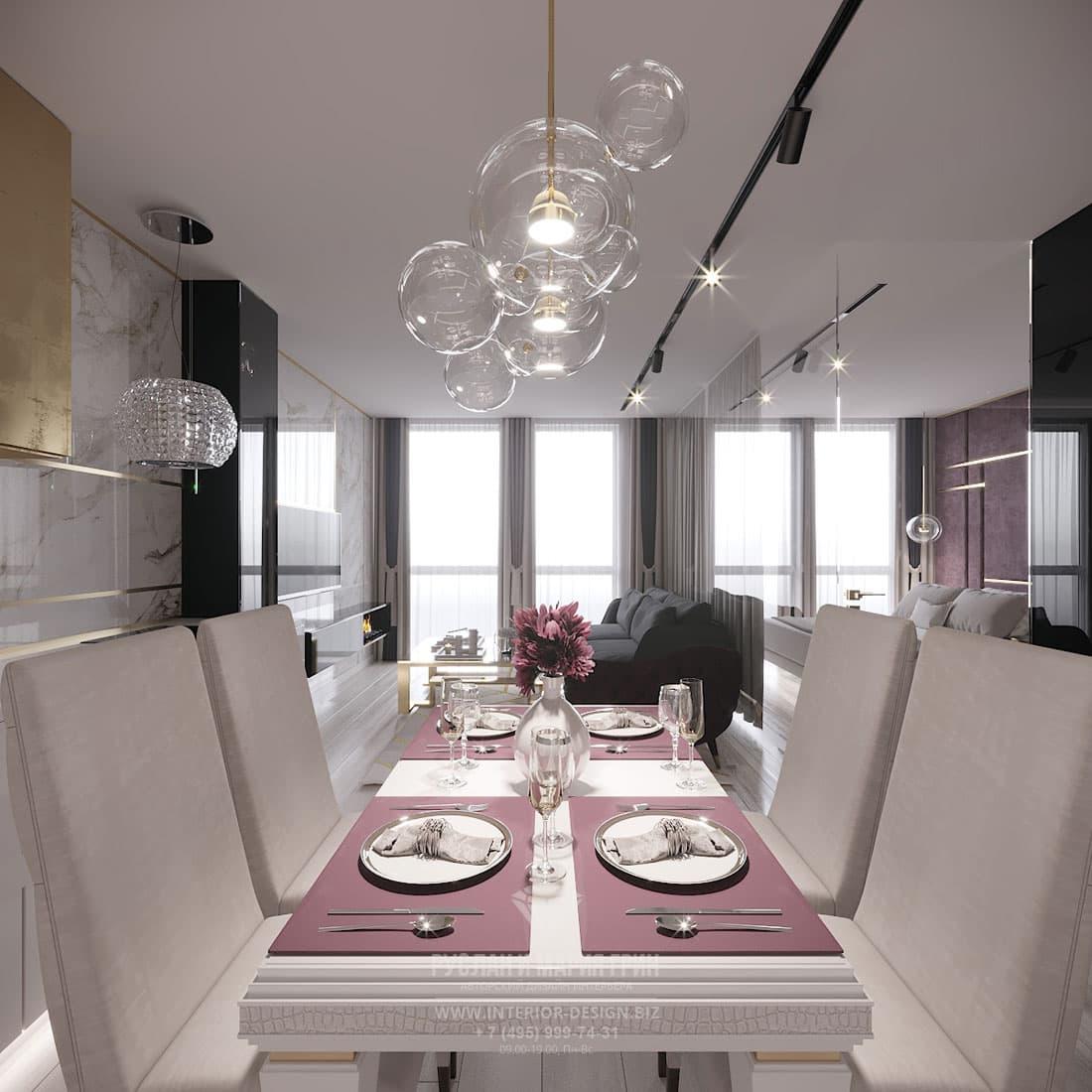Интерьер столовой в современной квартире