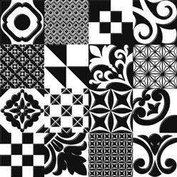 Черно-белый пол