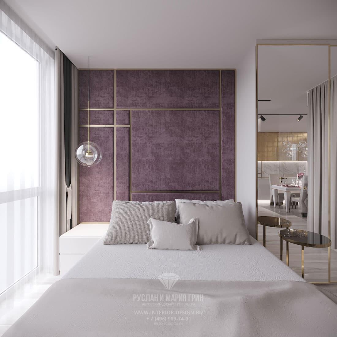 Интерьер спальни в квартире в современном стиле