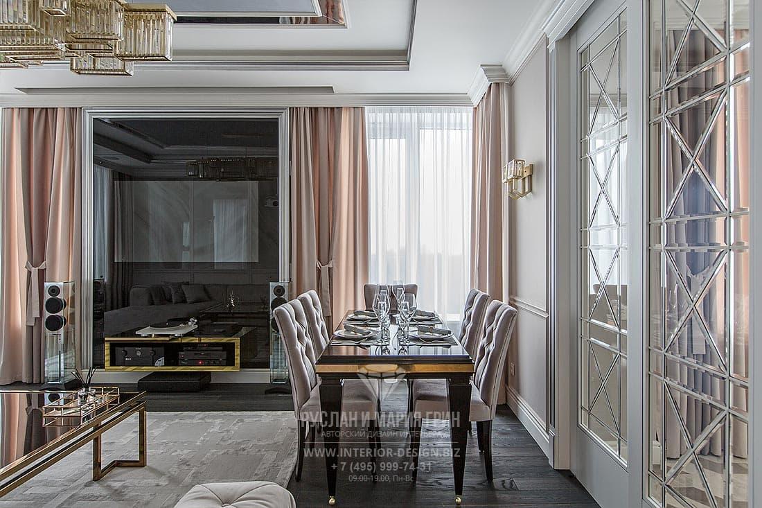 Дизайн гостиной в американском стиле