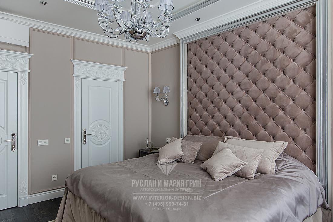 Дизайн квартиры 2019. Фото спальни в бежевых тонах