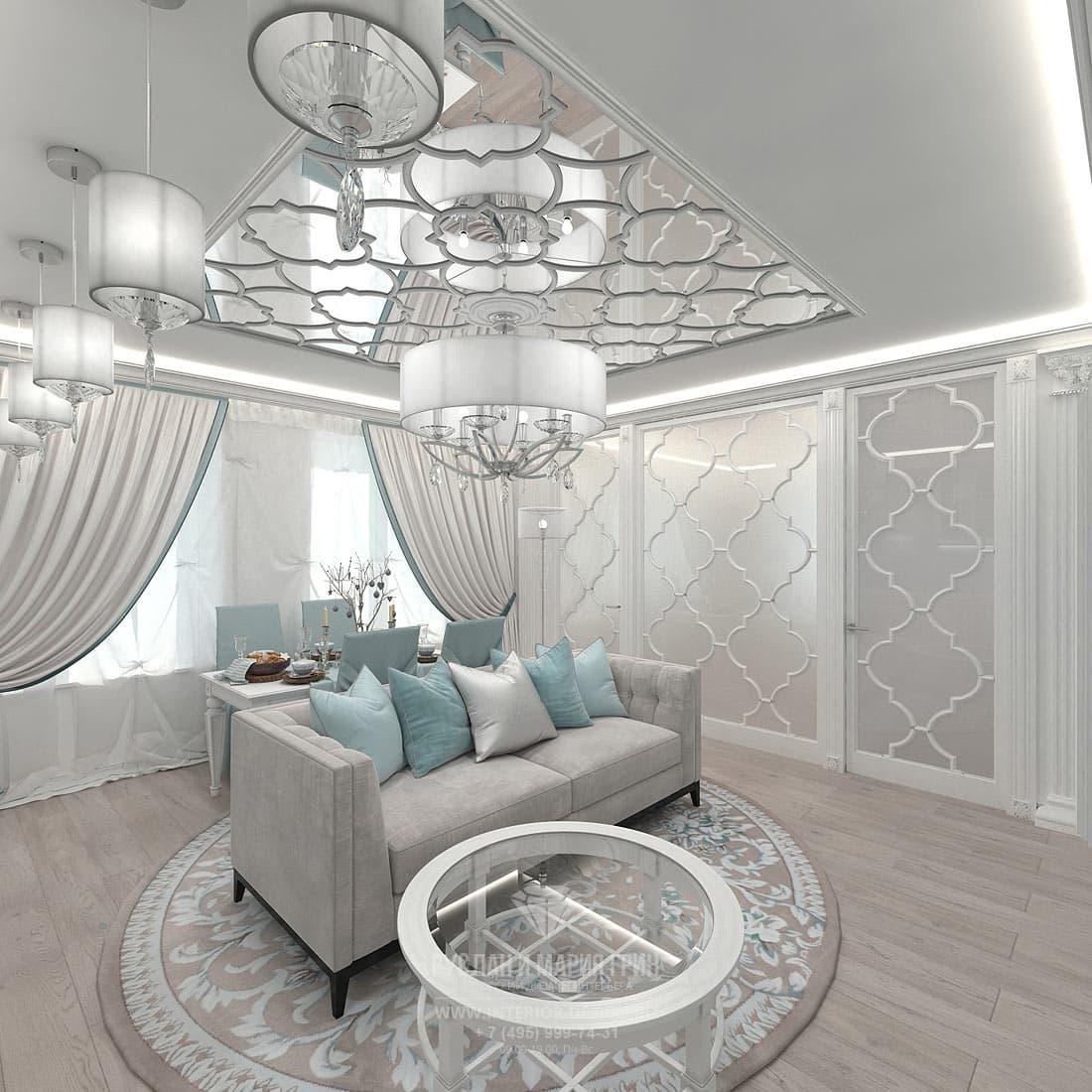 Дизайн гостиной в стиле эклектика