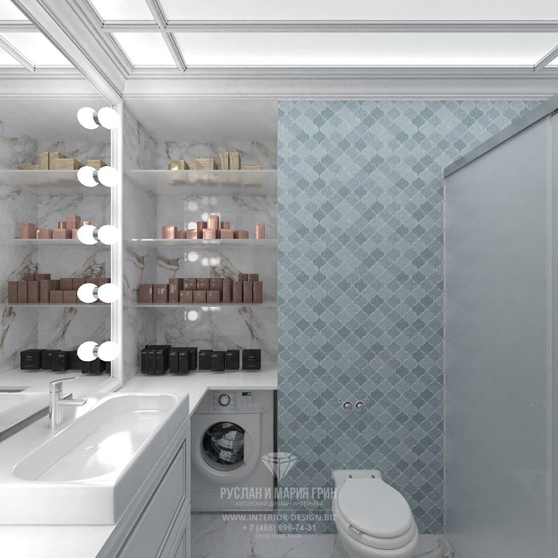 Дизайн ванной комнаты с элементами эклектики