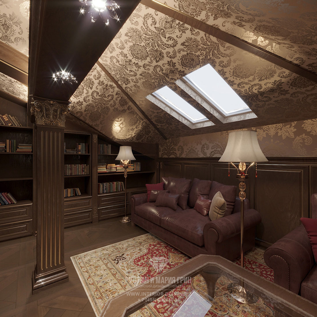 Дизайн кухни частного дома в классическом стиле