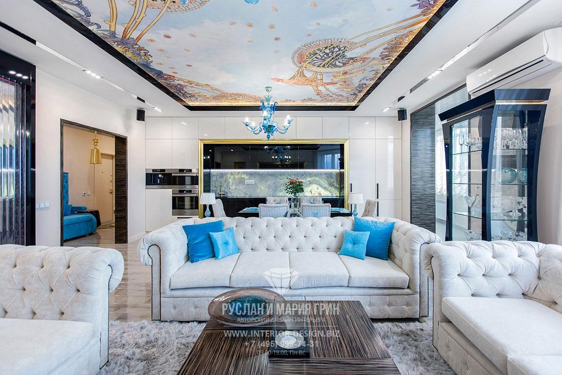 Дизайн интерьера роскошной гостиной