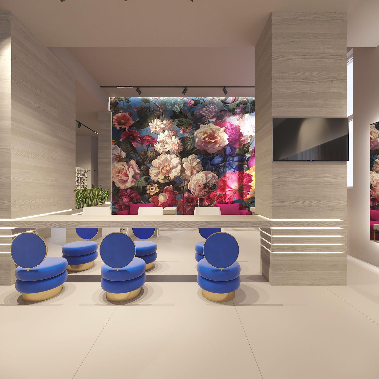 Дизайн интерьера основного зала в салоне красоты