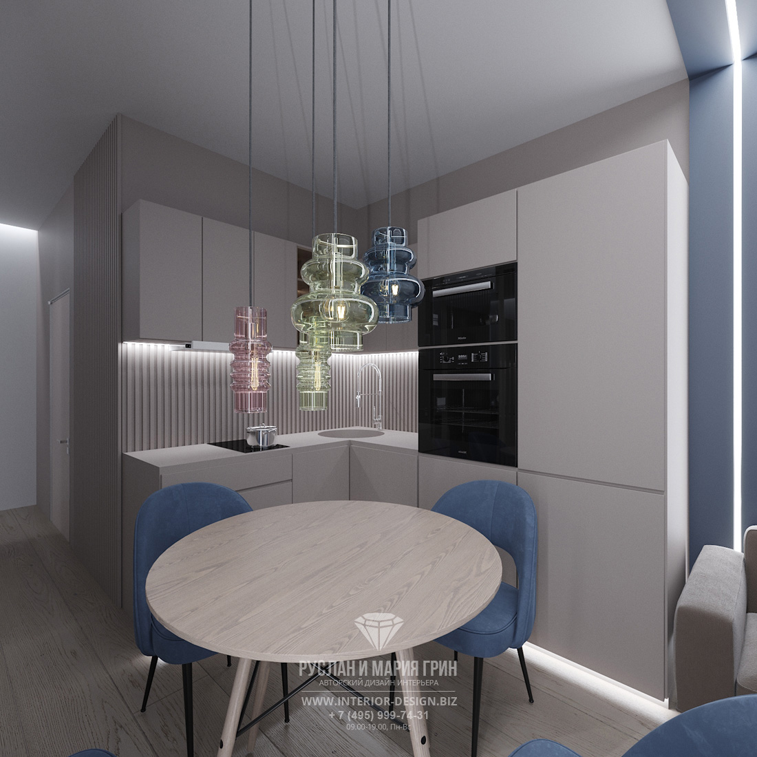 Дизайн маленькой угловой кухни в стиле минимализм