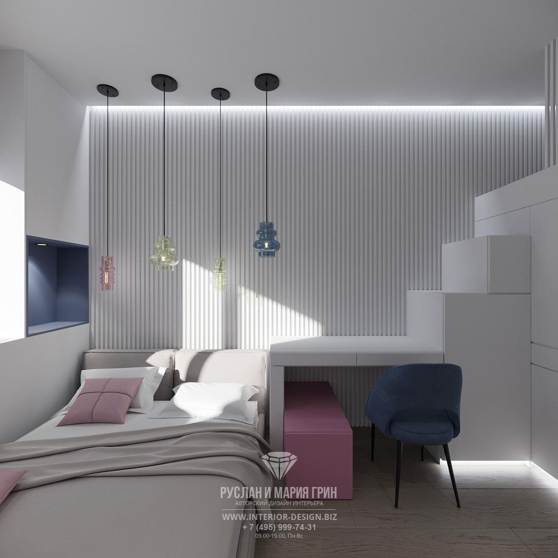 Дизайн интерьера спальни в мини-квартире